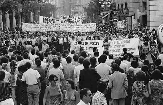 1976 manifestación por la autonomia