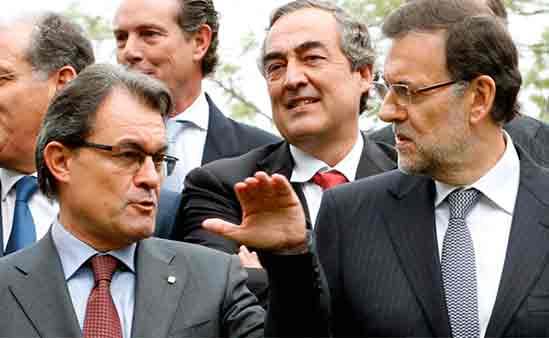 Mas, Rosell y Rajoy