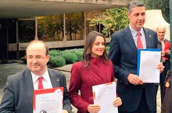 Iceta, Albiol y Arrimadas frente al Tribunal Constitucional